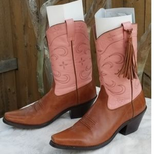 ARIAT Womens Western Cowgirl Leather Tassel boots